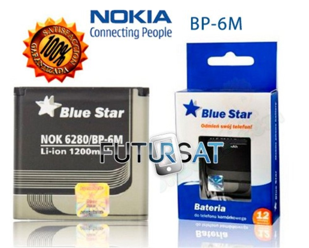 Bateria Interna Blue Star Nokia 6280 9300 6151 N73 BP6M 1200 mAh