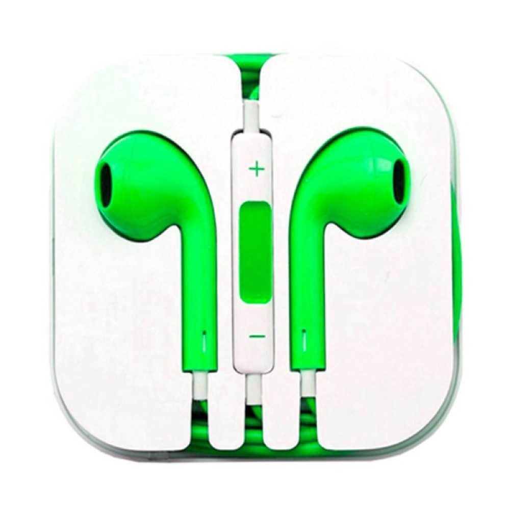 Auriculares tipo iPhone verdes861606060052